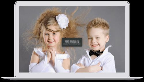 Website für eine Brautfrisur-Stylistin