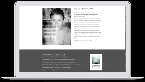 Website für die Fotografin Steffi Atze