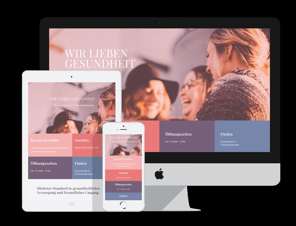 Website für Praxis
