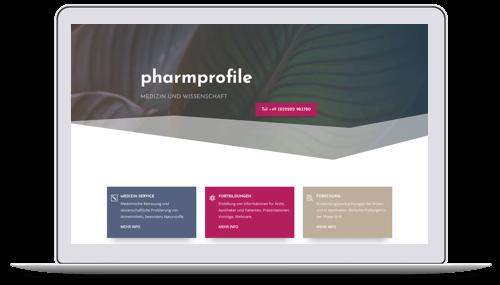 Website für einen Medizin-Dienstleister